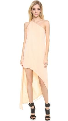 Mason by Michelle Mason Asymmetrical Maxi Dress
