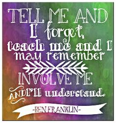Telling isn't as important as is, teaching, and involving someone in the learning process and what you are trying to teach them. It's as simple as that!