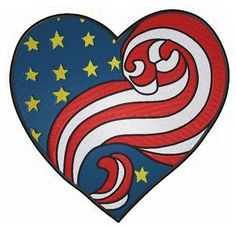 "Get ready for the 4th of July with our Independence Day embroidery designs! Check out ""Patriotic Heart""! Up to 40% off!!"