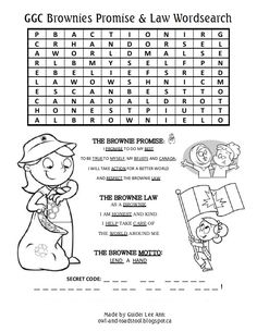girl guides of promise law puzzles ideas for girl guides of promise law puzzles girl scout law printable coloring pages Brownies Girl Guides, Brownie Guides, Girl Scout Law, Girl Scout Leader, Brownie Meeting Ideas, Brownies Activities, Girl Scout Promise, Girl Scout Activities, Art Activities