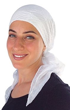 29% Off was $24.00, now is $16.95! Pre Tied Fitted Lurex® Head Scarf Bandana, Chemo Scarf