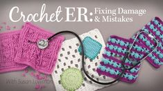 New Annie's Video - Crochet ER: Fixing Damage and Mistakes by Susan Lowman Crochet Classes, Crochet Videos, Learn To Crochet, Crochet Projects, Craft Projects, Crochet Patterns Free Women, Crochet Designs, Sewing Patterns, Creative Skills