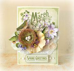 March Time to Flourish card by Mariuisz Gierszewski #graphic45