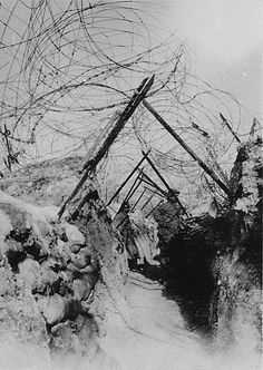 talesofwar: Picks and a thick line of barbed wires : enough to discourage the most intrepid trench raiders.
