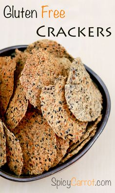 gluten free crackers With vegan cheese and an alternative to the sesame seed (millet, ground almonds?), these might work