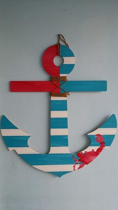 Come in and paint an anchor door hanger! Great for a kids room too. & Anchor Door Hanger by millercrafts on Etsy | 4th of July ... Pezcame.Com
