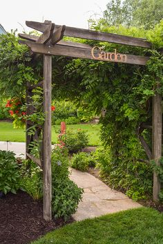 The wooden pergola is a good solution to add beauty to your garden. If you are not ready to spend thousands of dollars for building a cozy pergola then you may devise new strategies of trying out something different so that you can re Rustic Pergola, Pergola Garden, Deck With Pergola, Wooden Pergola, Backyard Landscaping, Pergola Kits, Outdoor Pergola, Pergola Roof, Cheap Pergola