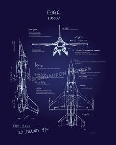 Turbo jet engine afterburner patent airplane blueprint airplane check out this fighting falcon blueprint art vintage poster art by squadron posters malvernweather Gallery
