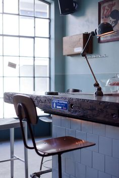 """At this is not home but it's quite good. Atelier Mecanic by Corvin Cristian {thank you @Tania Jiménez}. """"Each piece in this bar has a story, it has memories, but it cannot talk, it cannot pass on its history and its feelings""""."""