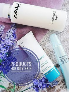 Selection oily skin treatment products