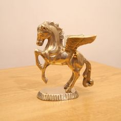 Pegasus solid brass sculpture / statue / figurine by UKAmobile
