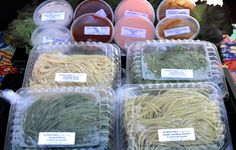 The new Farmers' Market at Bayard and Garnet is stocked with plenty of delicious finds, including honey, fresh pasta, and zataar-covered flat breads.