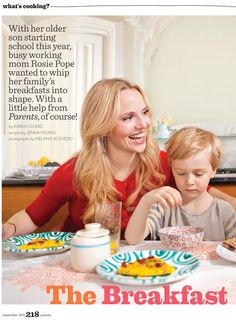 Rosie Pope wearing Simon Alcantara's sterling silver and pyrite hand woven hoops in the Parents September 2013 cover story Starting School, September 2013, What To Cook, Hand Weaving, Parents, Editorial, Sterling Silver, Cover, Dads