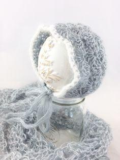 A personal favorite from my Etsy shop https://www.etsy.com/ca/listing/469676666/crochet-baby-bonnet-crochet-mohair