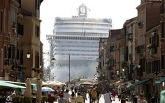 The MSC Divina cruise ship is seen in Venice lagoon