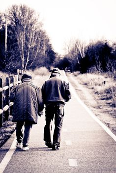 old couple. It's great when youre with someone that you see yourself getting old with. Especially when you've been in each others lives since you were 15 <3 nc