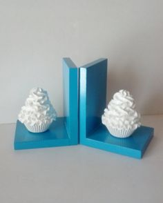 Choose your colors Cupcake Bookends Room by FakeCupcakeCreations