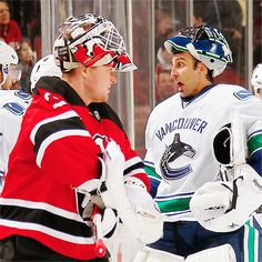 5254a997a Cory Schneider New Jersey Devils and Roberto Luongo Vancouver Canucks