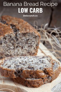 The Best Low Carb Banana Bread Recipe (Keto-Friendly) This banana bread recipe is the best keto bread recipe. If you are looking for an easy and healthy keto bread recipe, you should never miss this low carb banana bread or almond flour banana bread. Easy Low Carb Bread Recipe, Best Low Carb Bread, Lowest Carb Bread Recipe, Easy Bread Recipes, Banana Bread Recipes, Banana Recipes For Diabetics, Old Bananas Recipes, Low Carb Desserts, Low Carb Recipes