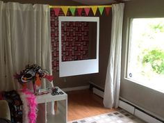 Polaroid photo booth for Chloe's going away party! Homemade frame, props and lipgloss! It was an AWESOME party!