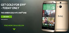 Get an Amber Gold HTC One (M8) for $99 today only - http://www.aivanet.com/2014/05/get-an-amber-gold-htc-one-m8-for-99-today-only/