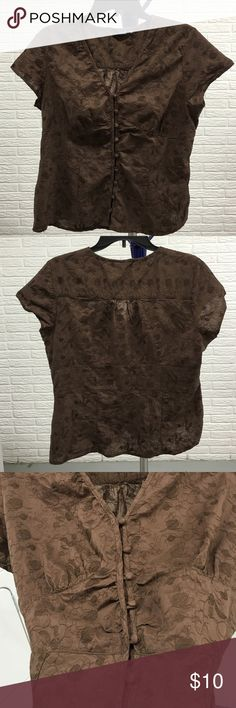Selling this Brown short sleeve blouse by a.n.a. Size XL in my Poshmark closet! My username is: lsmouz. #shopmycloset #poshmark #fashion #shopping #style #forsale #a.n.a #Tops