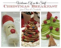 Christmas Breakfast {Welcome Elf on the Shelf} - Clean and Scentsible
