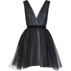 Alice + Olivia Princess Layered Tulle Dress (20,400 INR) ❤ liked on Polyvore featuring dresses, vestidos, short dresses, robes, pleated skater skirt, hi low dress, short front long back dress and pleated circle skirt