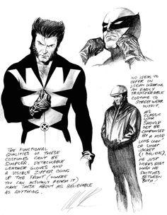 Wolverine concept sketch | Alex Ross #marvelcomics #marvel