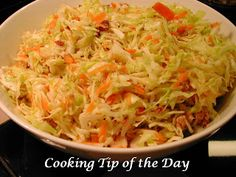 Cooking Tip of the Day: Recipe: Bacon Coleslaw