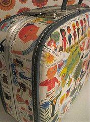 Vintage valise I covered