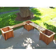Outdoor planters and seating. The link leads to the website to buy it, but this would be such and easy DIY.