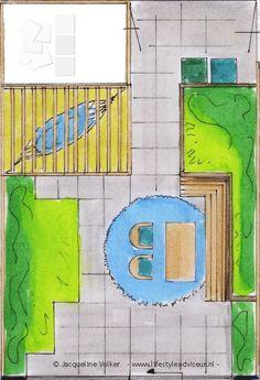 Tuinschets achtertuin schetsservice