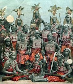 """""""The Dahomey Amazons or Mino was an all-female military regiment of the Fon people of the Kingdom of Dahomey in the present-day Republic of Benin. They existed from the 17th century to the end of the 19th century. While European narratives refer to the women soldiers as """"Amazons,"""" because of their similarity to the semi-mythical Amazons of ancient Anatolia, they called themselves Ahosi (king's wives) or Mino (our mothers) in the Fon language."""""""