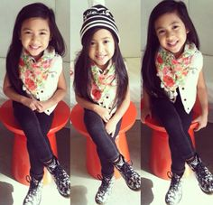 That awkward moment when a 6 year old has more style than u. 8(