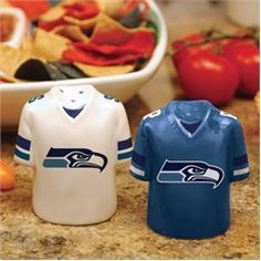 Seattle Seahawks Salt and Pepper Shakers Ceramic Set