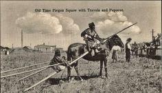 Pikuni Blackfeet (aka Southern Piegan) woman and child in Montana - circa 1920.jpg