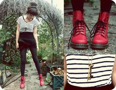 I miss my docs. maybe I should start to rock them again. Red Dr Martens