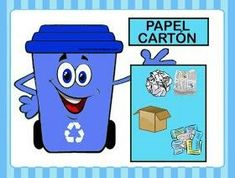 #reciclaje_preescolar Recycling For Kids, Earth Day Crafts, Nature Activities, Back To School Activities, Sistema Solar, Preschool Worksheets, English Lessons, Cute Crafts, Childcare