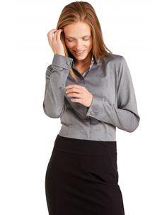 e402b8f493 Szara koszula damska Lambert 75194 w sklepie internetowym Wolczanka.pl!  Szybka dostawa