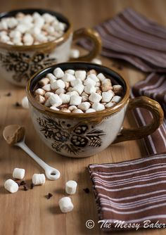 Milk Chocolate Peanut Butter Hot Chocolate: Chocolate and peanut butter get swirled into warm milk and cream to create a warm treat.