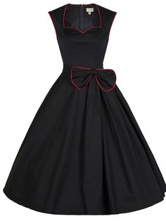 8837c950c2fd Buy Vintage Style 50s Rockabilly Swing Pure Color Party Dress with Bow  Dresses under $32.99 only