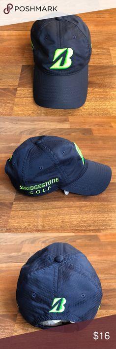 Bridgestone Golf Blue Green Baseball Hat Cap In excellent condition 913f5cd5695