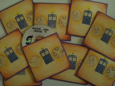 These are some gifts for guests of our Doctor Who Party. The CD Covers are made with self-made stamps. (via onethatranaway)