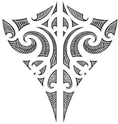 maori designs and patterns | maori style collar tattoo maori style ...