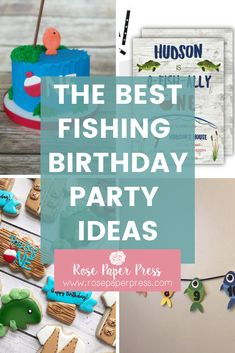 The best ideas for hosting a Fishing Birthday Party for kids. O'fishally one birthday party ideas including invitations, cookies, cake, and decorations. 1st Birthday Party Themes, Party Themes For Boys, Birthday Invitations Kids, Boy Fishing, Fishing Gifts, Fishing Rods, Kayak Fishing, O Fish Ally, Cake Cookies