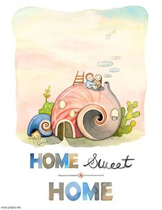Home wall art Home Sweet Home Print Unique wedding gift by joojoo, $25.00
