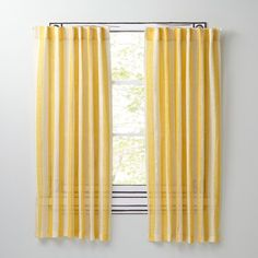 """63"""" Line Up Curtain (Yellow)"""