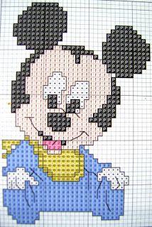 Veve Pontinhos: Gráficos em ponto cruz do Mickey e sua turma