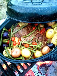...Yummy...: Braised Beef and Summer Vegetables